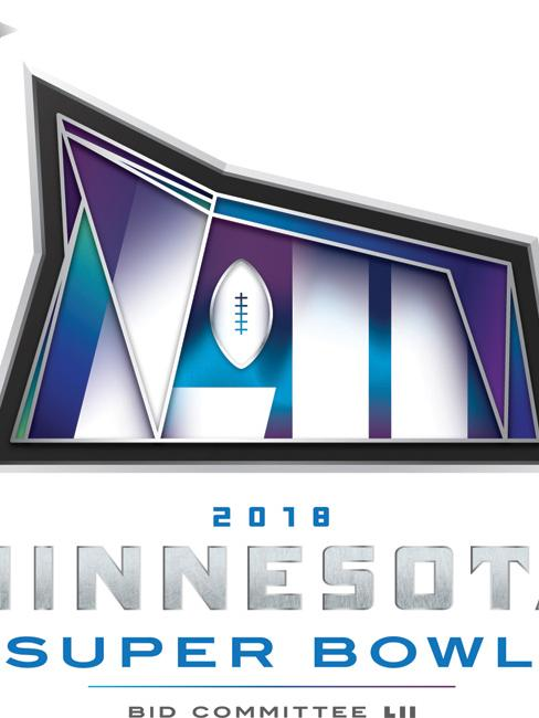 The Vikings used this logo for their bid for Super Bowl LII, held in 2018.