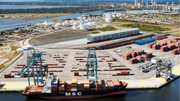 The 19-acre area on Hooker's Point, which will include a refrigerated warehouse and 17,500 linear feet of railroad, is part of an initiative to dramatically increase container business at the port.