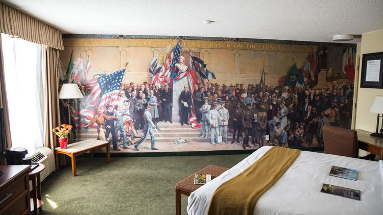 Murals and photographs submerse the guests of the 816 Hotel in the history of Kansas City