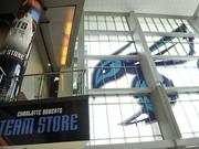 Rebranding is underway at Time Warner Cable Arena in uptown Charlotte. The local NBA franchise changed its name to the Charlotte Hornets on May 20.