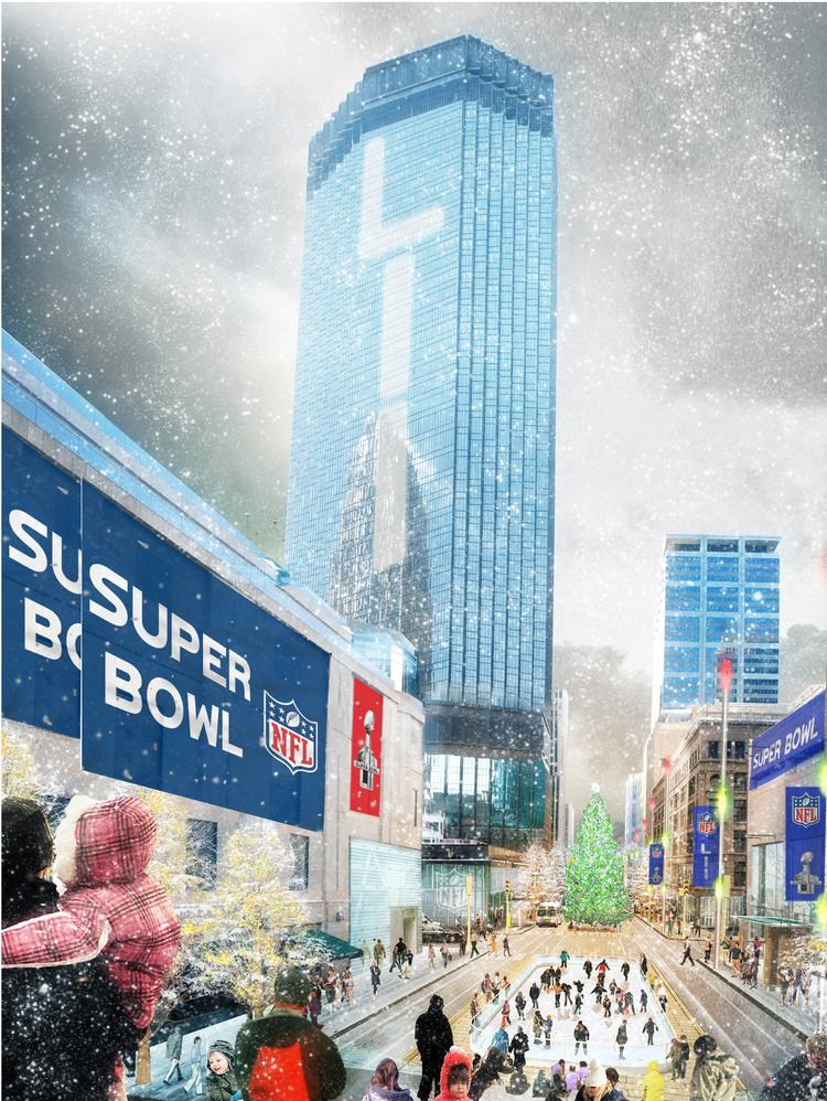 Downtown Minneapolis will be focused on Super Bowl LII in 2018.