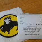 Buffalo Wild Wings blames boilerplate for 18 percent 'poor service' tip suggestion