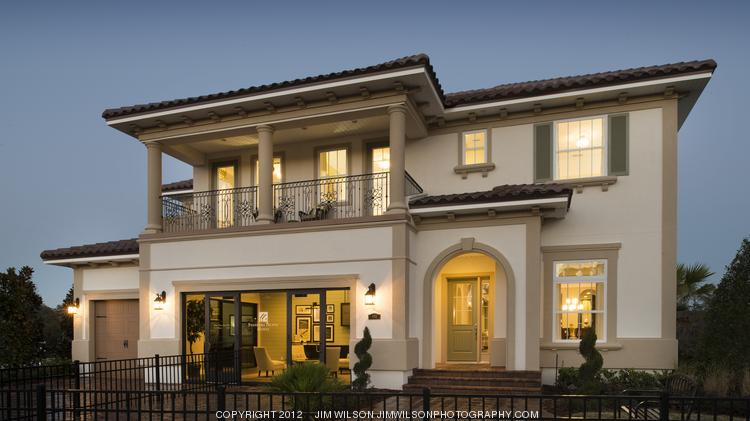 A Standard Pacific model home in Monterey at Palencia, where home prices range between $400,000 and $550,000.