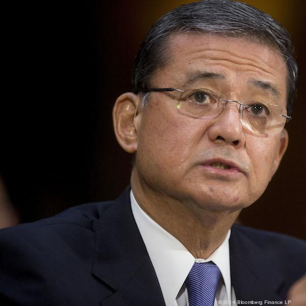 Secretary of Veterans Affairs Eric Shinseki is under fire due to a scandal over long wait times and alleged record falsification at VA hospitals.