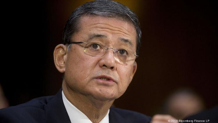 Secretary of Veterans Affairs Eric Shinseki wasn't asked to resign by President Barack Obama despite a scandal over long wait times and false records at VA hospitals.
