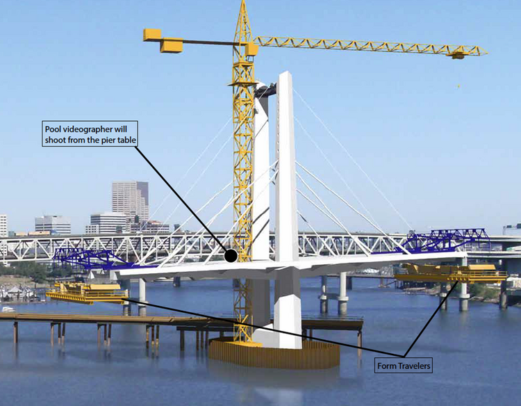 This rendering provided by TriMet shows the Portland-to-Milwaukie light rail bridge.