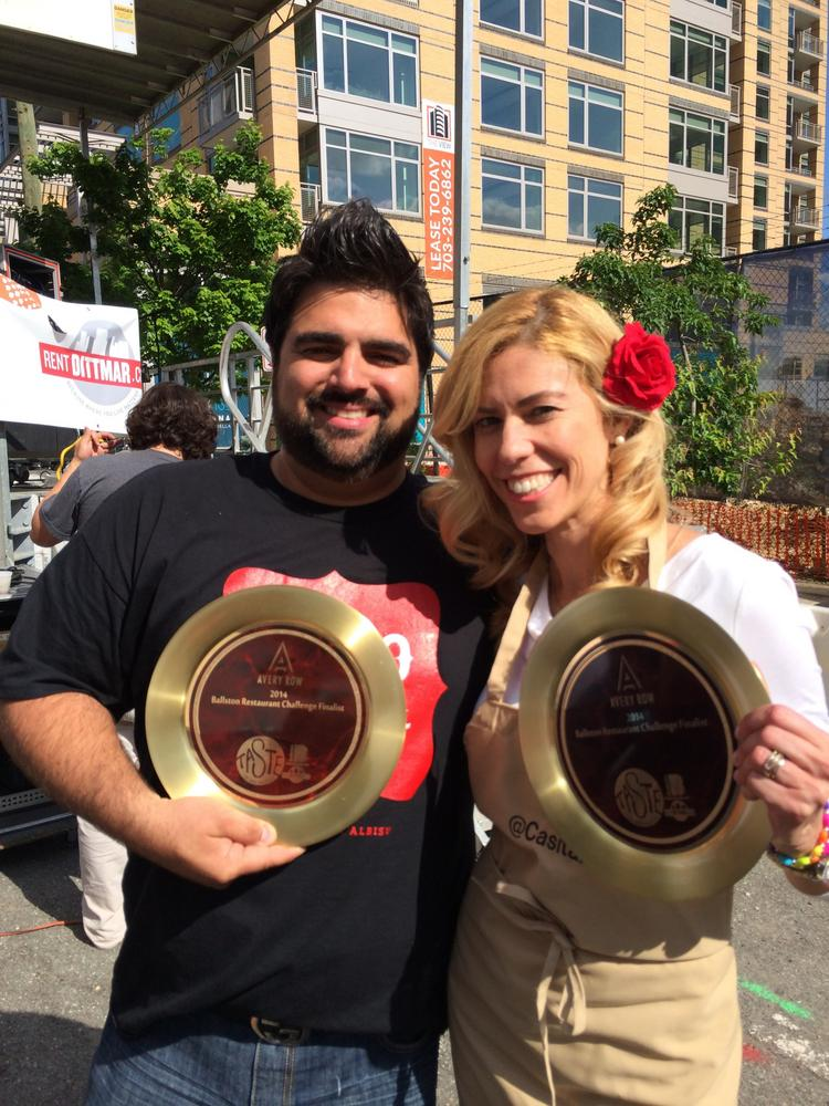 Chef Victor Albisu and budding restaurateur Christina Campos took home the crowns at the Taste of Arlington, but Albisu has subsequently withdrawn from the competition.