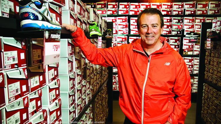 Rob DeMartini, president and CEO of New Balance at its new company store location in Brighton.