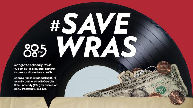 A Save WRAS poster.