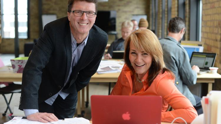 Persuasion Arts & Sciences Founder Dion Hughes with Business Director Mary Haugh