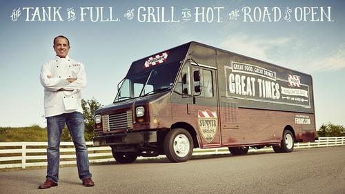 Larry Doyle, an executive chef at TGI Fridays, with the company's food truck.