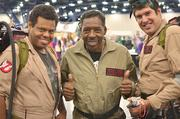Ernie Hudson (center), actor, as Ghostbuster Winston Zeddmore, pictured at a past Comicpalooza