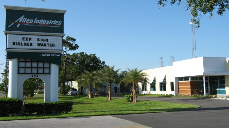 Allen Industries' Clearwater facility
