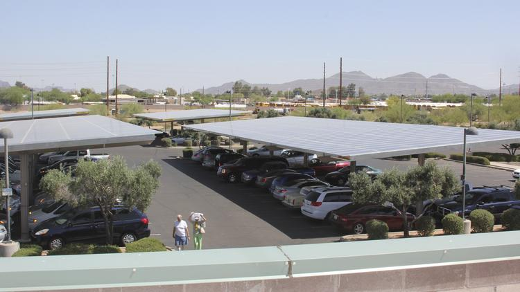 Mesa's largest solar system on city-owned property is a the Red Mountain Library.