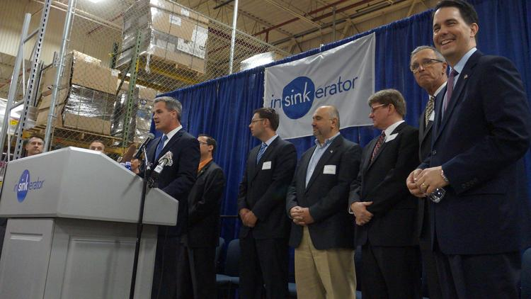 Tim Ferry, president of InSinkErator in Racine, announced that it plans to expand its current facility and has leased a facility in Kenosha.