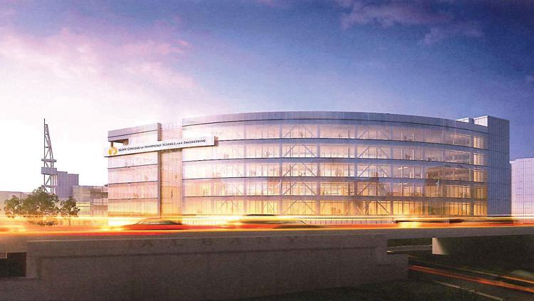 Rendering of the College of Nanoscale Science and Engineer's proposed new ZEN building in Albany, New York.
