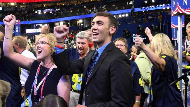 Delegates cheer during the 2012 Republican National Convention in Tampa, Fla.