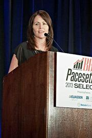 Peggy Murphy of the Eliassen Group was a co-presenter at BBJ Pacesetters 2013 Select 70 awards breakfast.