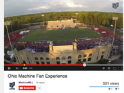 The Ohio Machine hired Infinite Impact to provide aerial footage of its home opener at Selby Field in Delaware.