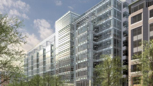 The Gould Property Co. is planning to break ground next month on a speculative office building at 600 Massachusetts Ave. NW