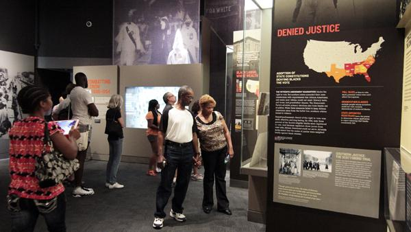 One of the newly renovated areas of the National Civil Rights Museum
