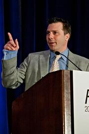 Dennis Franczak of Fuseideas  accepts their Pacesetter award at the BBJ Pacesetters 2013 Select 70 awards breakfast.
