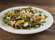 Hard Rock's new Grilled Chicken and Arugula Salad includes spicy pecans, dried cranberries and fresh orange segments tossed in lemon balsamic vinaigrette, topped with crumbled feta cheese.