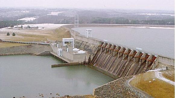 Hydro plants such as Duke Energy Carolinas' 350-megawatt Cowan's Ford Dam are often used for reserve capacity. They can start operations immediately when Duke needs to generate additional power.