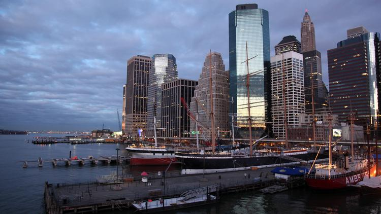 Manhattan's South Street Seaport was badly damaged by flood waters pushed ashore by Hurricane Sandy. That event gave rise to a proposal for a Seaport City that would act as a levee.