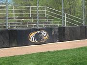 The bleachers at UWM's home field are pretty basic.