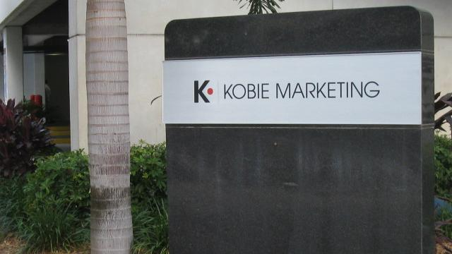 The Kobie Marketing sign in downtown St. Petersburg
