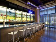 The Aloft's nightlife scene, complete with live music many nights of the week, is anchored by its full service bar, WXYZ.
