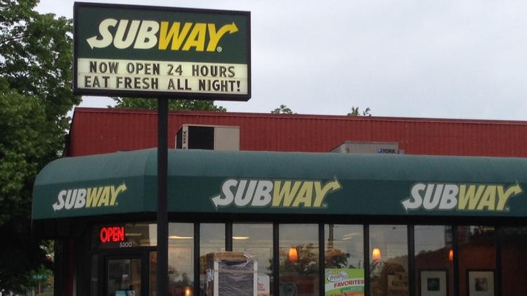Matthew Hollek owns this Subway on 15th Avenue Northwest in Seattle's Ballard. When the refrigerated drink display broke, he said he had to replace it without help from the chain. Hollek contends his franchise is a small business.