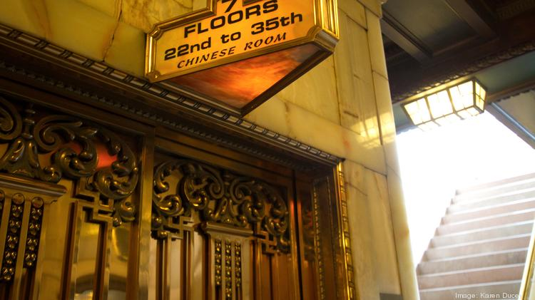 Elegant signage can be seen throughout the Smith Tower in Seattle