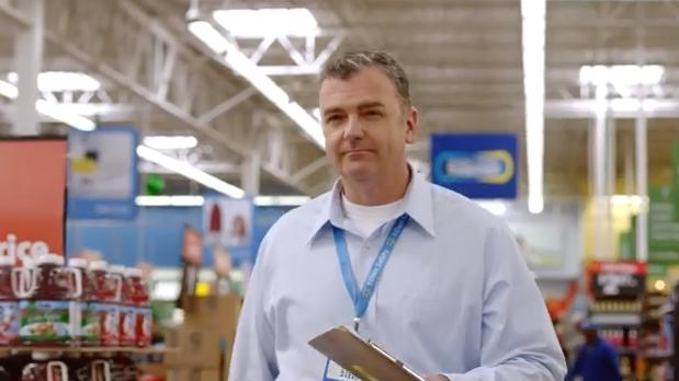 Steve Smith, a U.S. Air Force veteran and a Lakewood Walmart shift manager, stars in a new Walmart television ad.