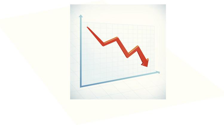 Tennessee business tax collections are down $222 million from budget estimates since August.