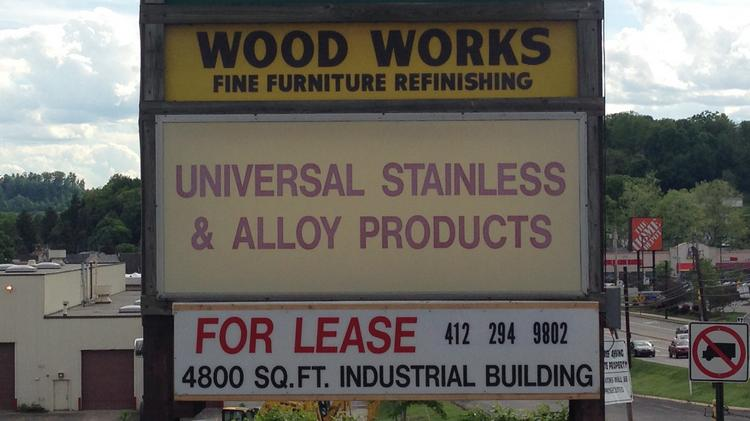 Universal Stainless & Alloy Products Inc. (Nasdaq: USAP) is based in Bridgeville.