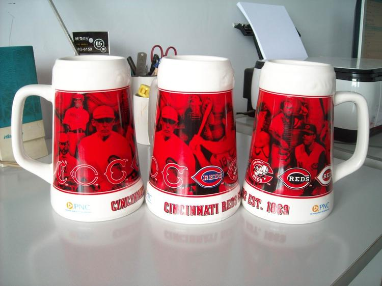 Reds steins created by Associated Premium Corp.