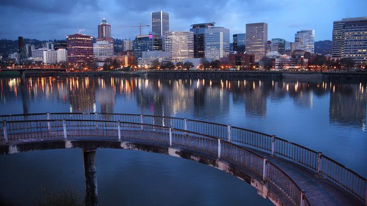 Portland earned high marks for its walkable central city routes, among other factors.
