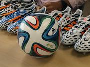 Adidas makes the official match ball for the World Cup. This year's ball, called the Brazuca, is the most tested ball in the company's history.