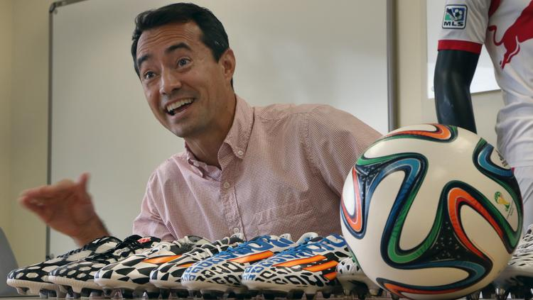 Adidas director of soccer Ernesto Bruce on Tuesday mapped out the company's extensive marketing effort for next month's World Cup soccer tournament.