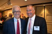 Alex Orfinger, publisher of the Washington Business Journal, left, with Jim Davis of Davis Construction.