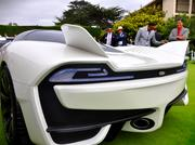 The rear of the Tuatara features wings to keep it stable at high speeds.