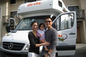 David Niu and family hit the road
