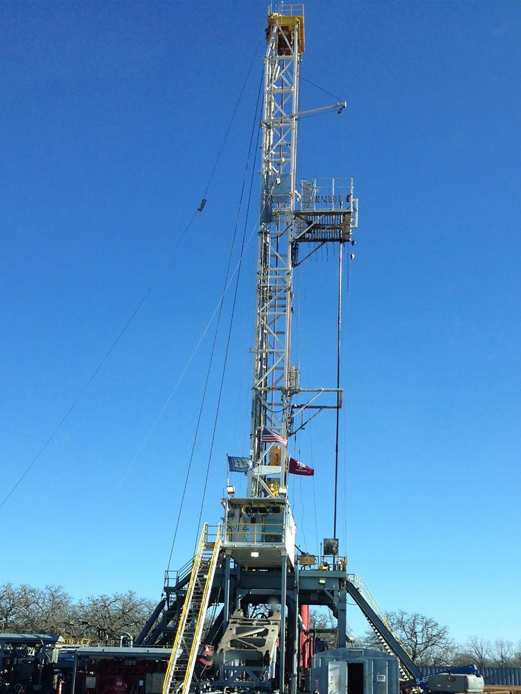 One of Laredo Energy's drilling rigs being deployed in Brazos County. The company recently grabbed $130 million in equity funding to continue its oil and gas activities in South Texas.