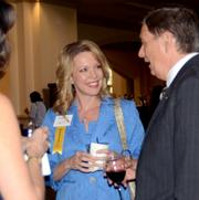 Women Who Mean Business honoree Wendy Brandon of Central Florida Regional Hospital networks before the awards dinner.