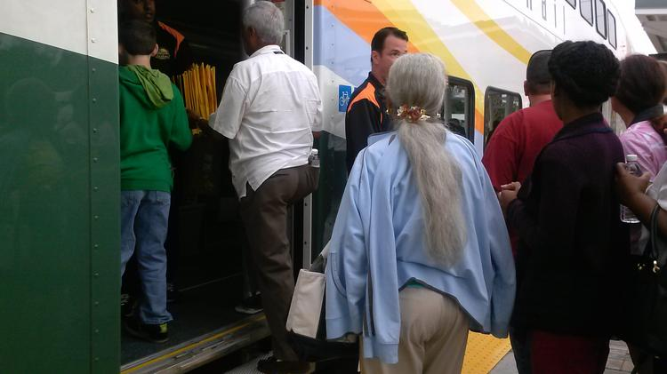 For the stops near Orlando Health and Florida Hospital, the SunRail train will arrive 15 minutes later than its normal schedule.