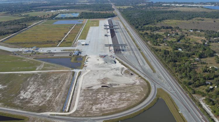 An aerial shot of Central Florida Intermodal Logistics Center in Winter Haven.