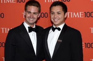 Snapchat cofounders Spiegel and Murphy