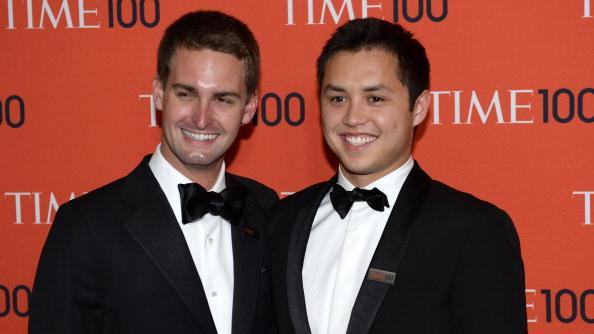 Evan Spiegel and Bobby Murphy, two of the co-founders of Snapchat, are among the Stanford undergrads who launched companies. The school is No. 1 on a ranking of colleges and universities whose alumni created the most venture-backed companies in the past five years.
